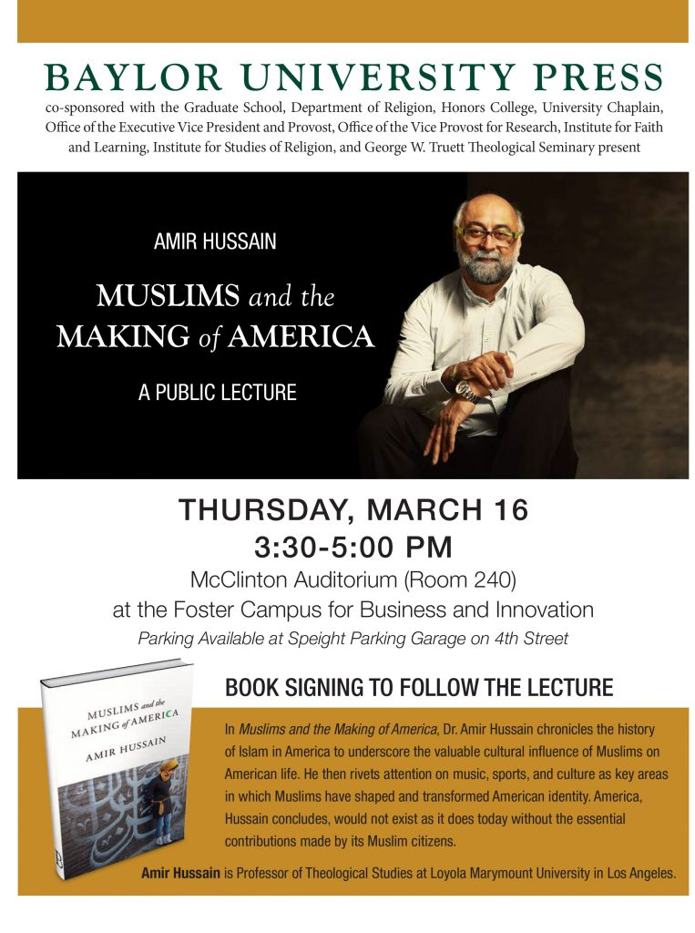 Amir Hussain Lecture @ McClinton Auditorium, Foster Campus for Business and Innovation | Waco | Texas | United States
