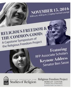 Religious Freedom and the Common Good: A Capstone Symposium of the Religious Freedom Project @ Berkely Center, Georgetown University | Washington | District of Columbia | United States