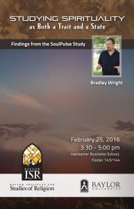 Bradley Wright Lecture @ Hankamer Business School, Foster 143/144