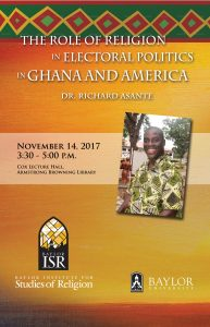 Richard Asante Lecture @ Cox Lecture Hall, Armstrong Browning Library, Baylor University