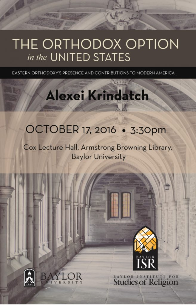 Alexei Krindatch Lecture @ Cox Lecture Hall, Armstrong Browning Library, Baylor University
