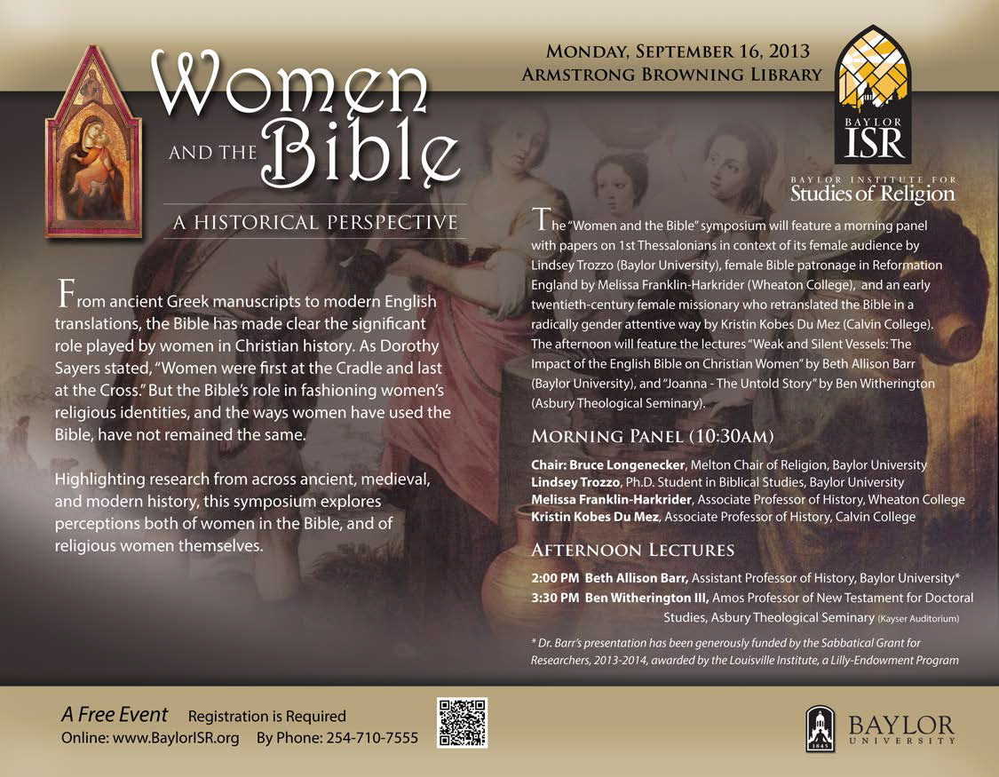 Women and the Bible: A Historical Perspective | Baylor Institute for